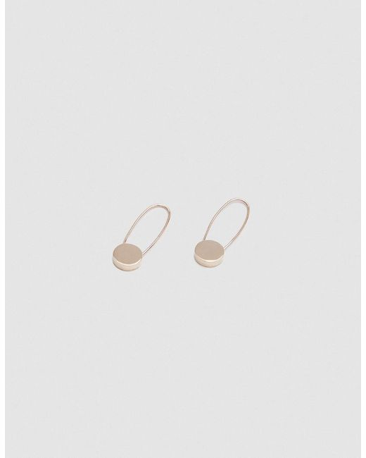 Loren Stewart - Metallic Circle Safety Pin Earrings - Lyst