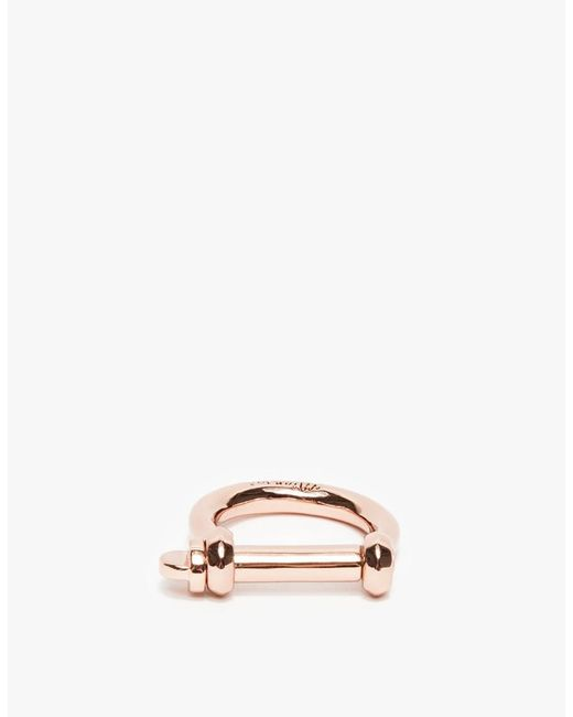 Miansai | Pink Rose Gold Screw Ring | Lyst