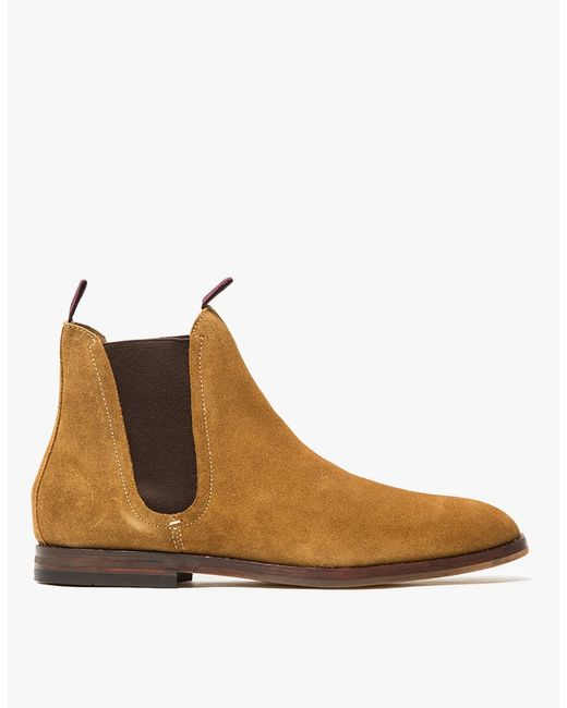 H by Hudson | Blue Tan Suede Tamper Chelsea Boots for Men | Lyst