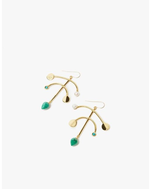 Lizzie Fortunato | Metallic Malachite Mobile Earrings | Lyst