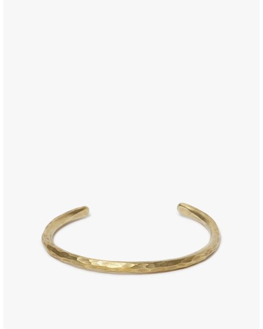 Cause and Effect | Multicolor Brass Hammered Bar Cuff | Lyst