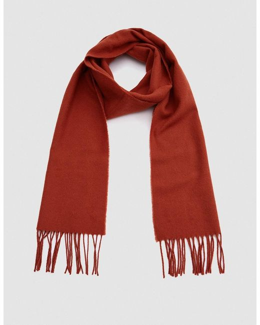 Norse Projects | Red Norse X Johnstons Lambswool Scarf In Ochre | Lyst