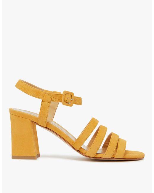 Maryam Nassir Zadeh   Multicolor Palma High Sandal In Tangerine Suede   Lyst