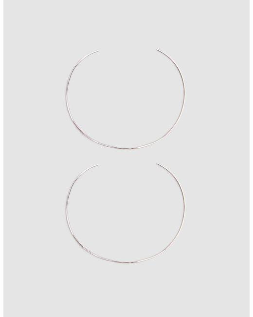 Loren Stewart - Metallic Set Of Two Silver Wire Cuff Bracelets - Lyst