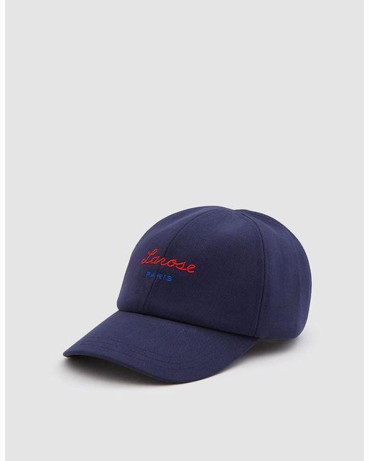 Larose Paris - Blue Larose Logo Baseball Cap In Navy for Men - Lyst