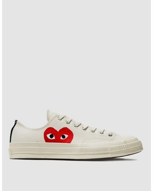 Play Comme des Garçons - Natural Play Converse Chuck Taylor Low-Top Sneakers for Men - Lyst