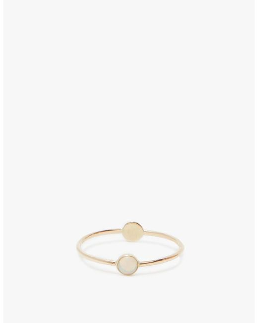 Mociun | Metallic Double Circle Ring In Opal | Lyst