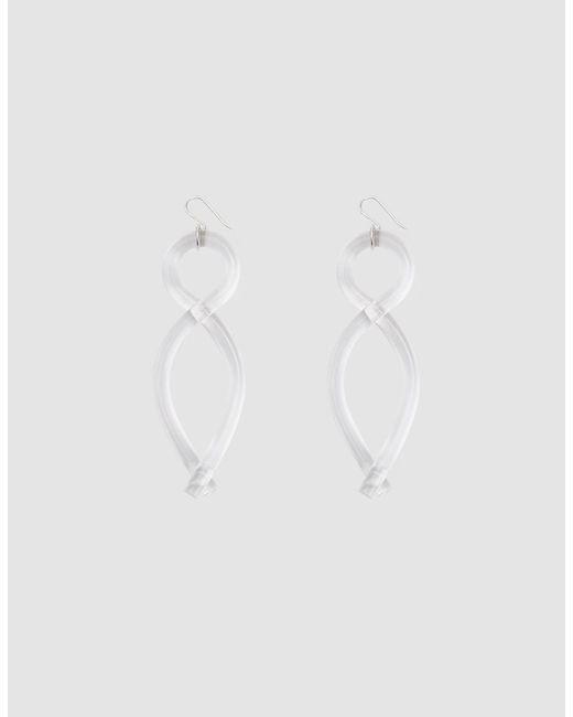 Corey Moranis - White Twist Earrings - Lyst