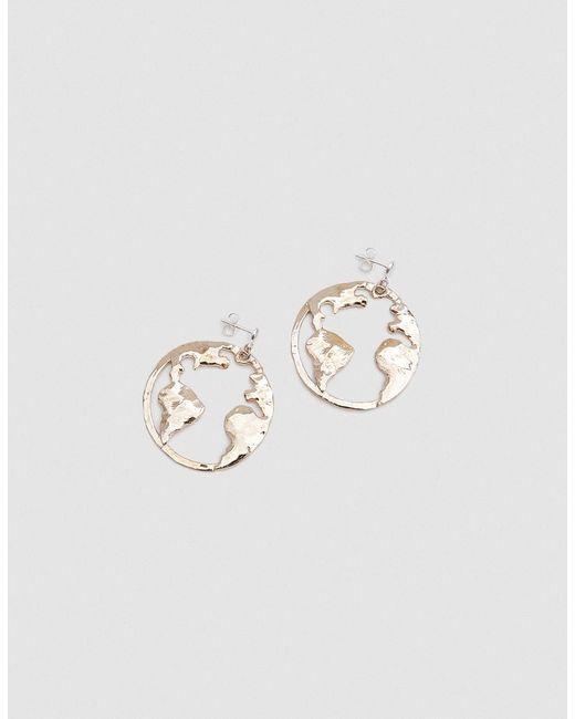 Open House - Metallic Earth Earrings In Bronze - Lyst