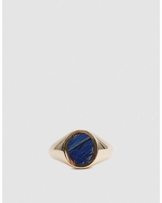 J. Hannah - Blue Azurite Malachite Oval Signet Ring - Lyst