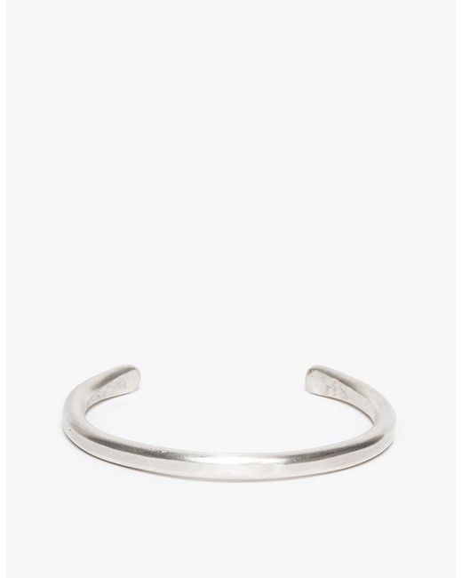 Cause and Effect - Metallic Silver Bar Cuff for Men - Lyst