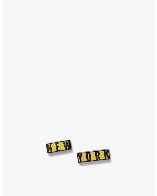 Prize Pins - New York Pin Set In Black & Yellow - Lyst