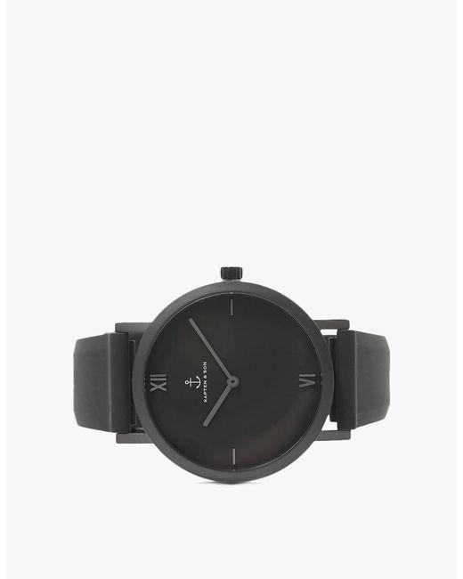 lyst kapten son pure 38mm watch in black in black for men. Black Bedroom Furniture Sets. Home Design Ideas