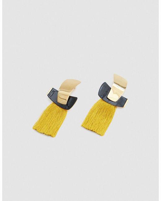 Lizzie Fortunato - Multicolor Totem Tassel Earrings In Ochre - Lyst