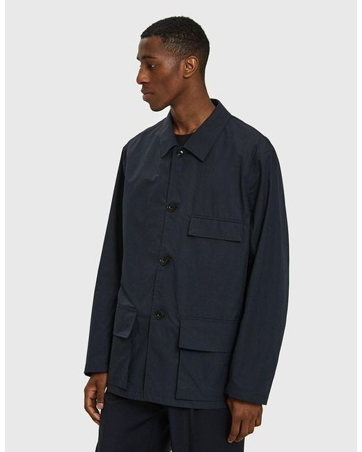 Lemaire - Three Pocket Jacket In Midnight Blue for Men - Lyst