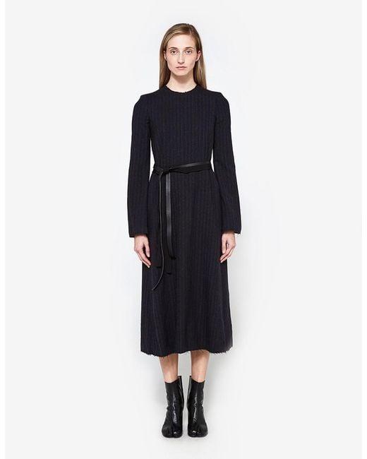 Maison Margiela | Multicolor Long Sleeved Pinstripe Dress | Lyst