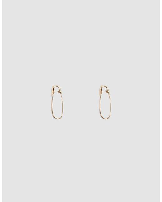 Loren Stewart - Metallic Mini Safety Pin Earrings - Lyst