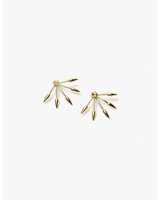 Pamela Love | Metallic 5 Spike Earring In Yellow Gold | Lyst