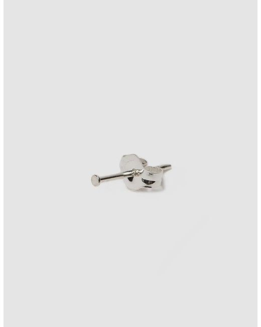 Kathleen Whitaker - Multicolor Single Small Silver Sequin Stud Earring - Lyst
