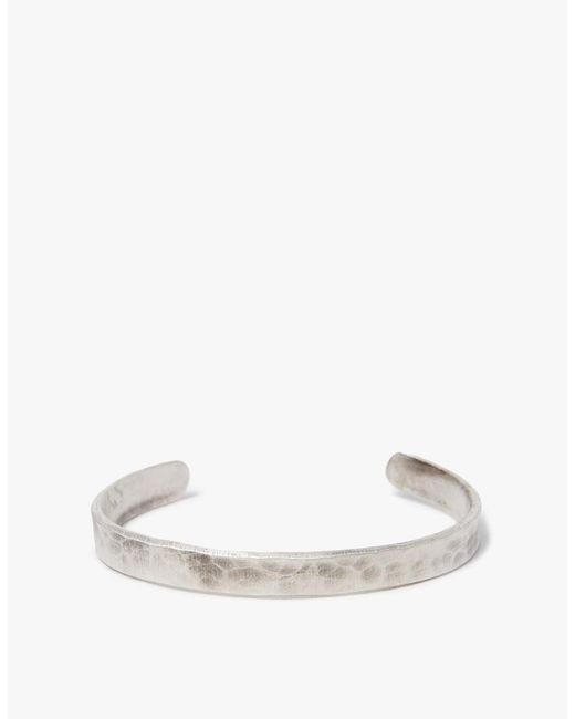 Cause and Effect - Metallic Flat Silver Hammered Cuff - Lyst