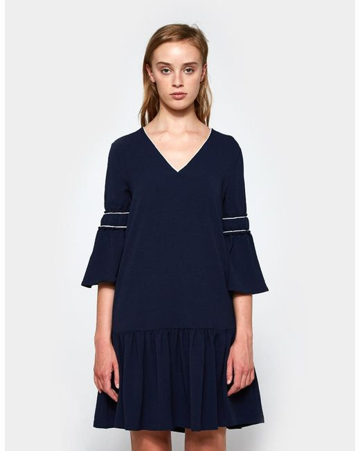 Ganni - Blue Clark Dress - Lyst ...