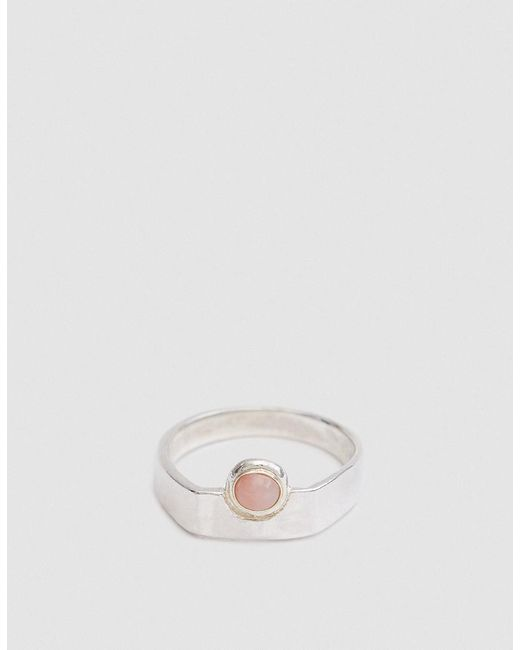 Open House | Metallic Author Ring In Silver/pink | Lyst