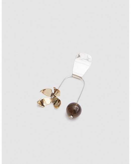 Faris - Metallic Single Balance Ladyday Earring - Lyst
