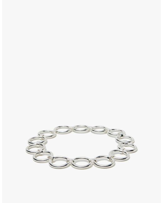 Saskia Diez - Metallic Bold Collier In Silver - Lyst