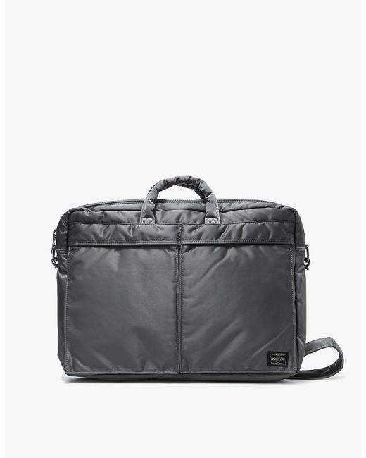 Porter | Gray Tanker 2way Brief Case S In Silver Grey for Men | Lyst
