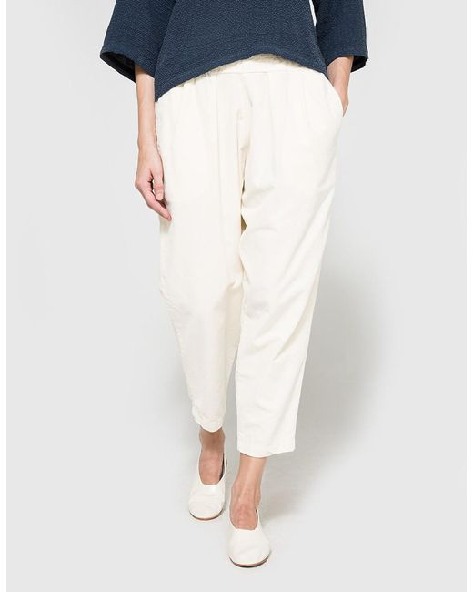 Black Crane | Natural Carpenter Pant In Cream | Lyst