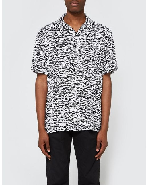 Obey - Uproar Woven Ss Shirt In Black Multi for Men - Lyst