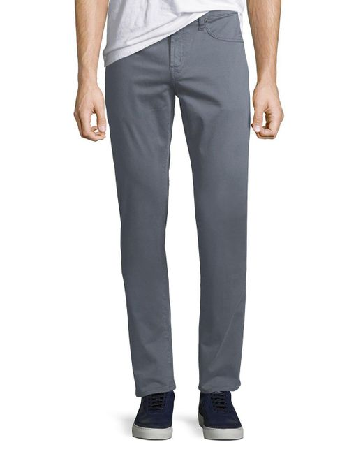 J Brand - Gray Men's Kane Straight-leg Twill Pants for Men - Lyst