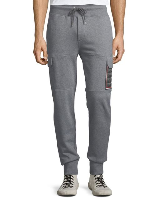 ba6736068f6b Lyst - Moncler Men s Jogger Trouser Pants With Cargo Pockets in Gray ...