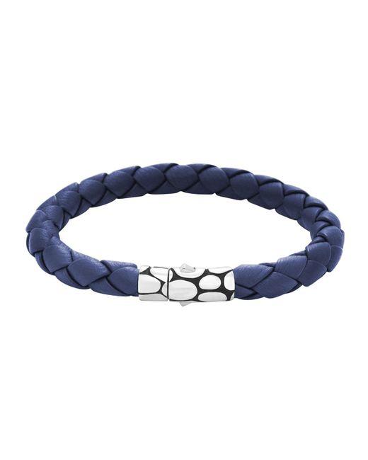 John Hardy - Blue Kali Woven Leather Bracelet for Men - Lyst