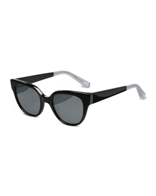 Elizabeth and James - Black Avory Monochromatic Square Sunglasses - Lyst
