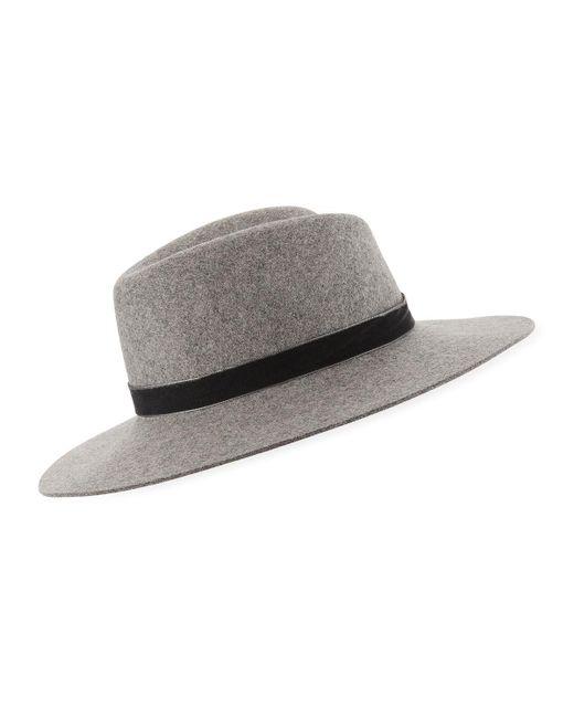 Rag & Bone - Gray Zoe Wool Fedora Hat for Men - Lyst