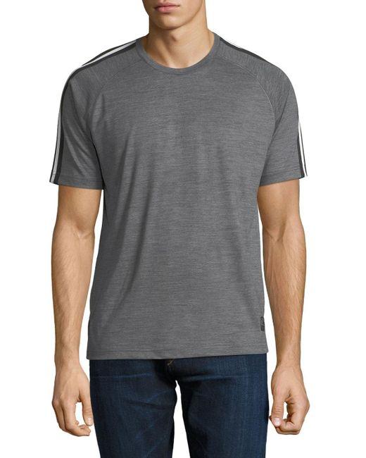 Z Zegna - Gray Techmerino Jersey Short-sleeve T-shirt for Men - Lyst