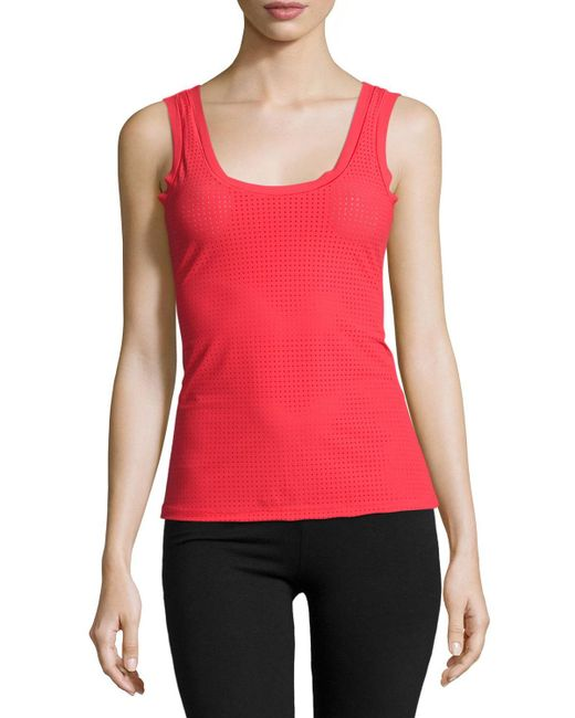 Commando   Red Active Perforated Tank   Lyst