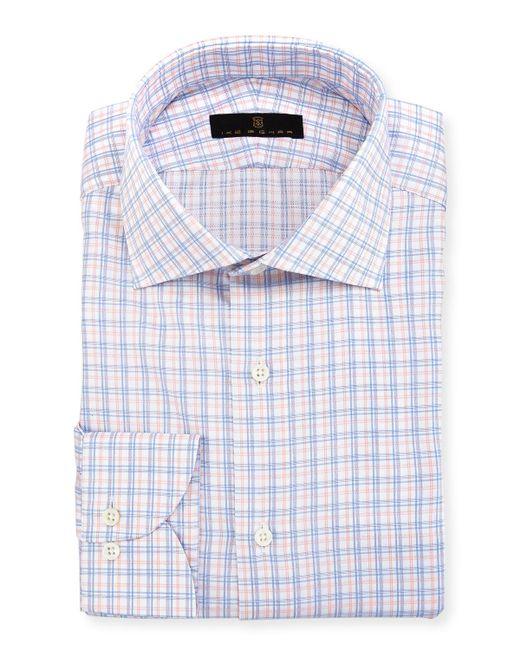 Ike Behar - Blue Gold Label Check Cotton Dress Shirt for Men - Lyst