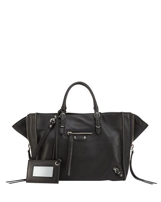 Balenciaga - Papier A6 Zip Around Tote Bag Black - Lyst