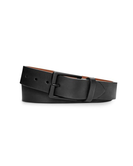 Shinola - Black Men's Lightning Bolt Keeper Leather Belt for Men - Lyst