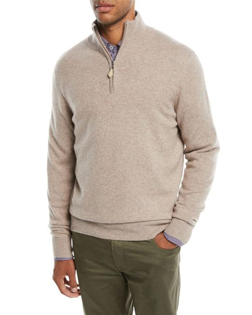 Neiman Marcus - Multicolor Men's Cashmere Half-zip Sweater for Men - Lyst