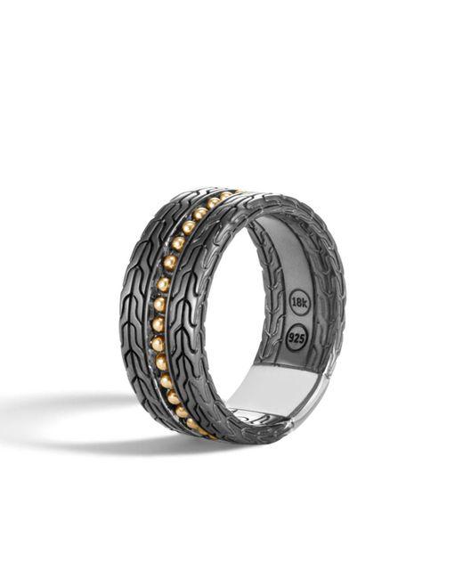 John Hardy - Metallic Men's Classic Chain 18k Stud Ring for Men - Lyst