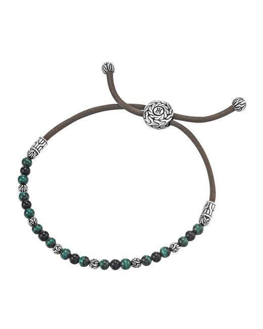 John Hardy | Blue Onyx & Malachite Cord Bracelet for Men | Lyst