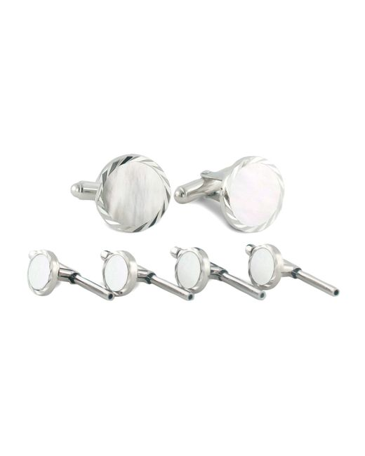 David Donahue | Metallic Mother-of-pearl Cuff Links & Studs Set | Lyst