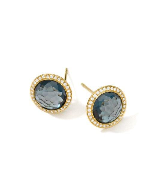Ippolita | Metallic Rock Candy 18k Gold Lollipop Diamond Stud Earrings | Lyst