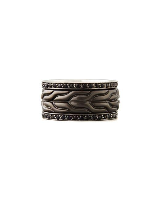 John Hardy | Men's Black Bronze Sapphire Ring for Men | Lyst