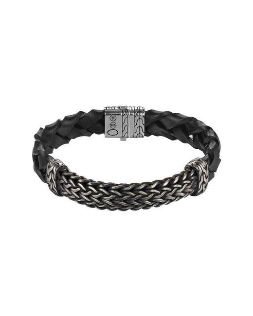 John Hardy | Black Men's Classic Chain Large Station Bracelet | Lyst