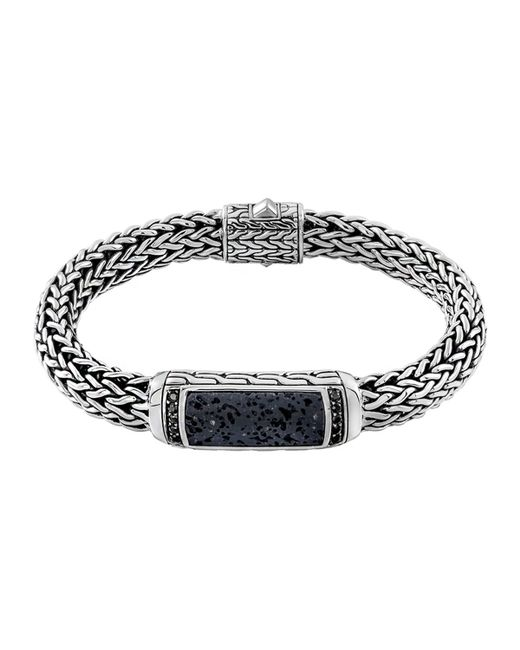John Hardy | Metallic Men's Classic Chain Black Volcanic And Black Sapphire Bracelet | Lyst