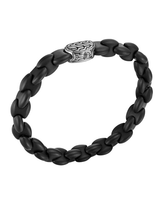 John Hardy | Men's Batu Classic Chain Silver And Black Agate Bracelet for Men | Lyst